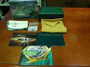 Vintage Rolex Oyster Explorer Watch Case & Outer Box Manual Booklet & Link!