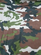 100% Cotton Green Mix Camouflage Army Camo Print Fabric Quilting Half Meter