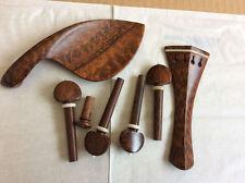 violin parts Selected snakewod 4/4 violin fittings white inlay