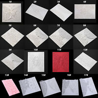 10pcs Flower Laser Cut Hollow Wedding Party Invitations Embossed DIY Pocket Card