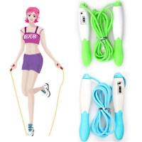 Adult Gym Fitness Exercise Skipping Jump Rope With LCD Digital Calorie Counter H