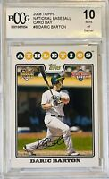 DARIC BARTON 2008 TOPPS NATIONAL TRADING CARD DAY BCCG 10 OAKLAND ATHLETICS RC