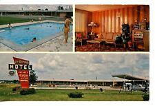 El Dorado Motel-Pool-Lobby-Brookfield-Missouri-Vintage Advertising Postcard