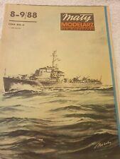 "PAPER-CARD MODEL KIT-MALY MODELARZ -Submarine Hunter ""Kronsztad"""