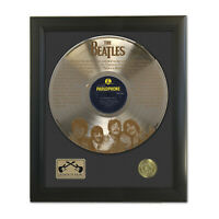 Beatles Yesterday Laser Etched Gold LP Record Framed Display