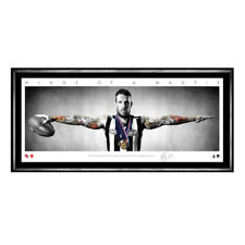 DANE SWAN WINGS COLLINGWOOD MAGPIES SIGNED FRAMED AFL POSTER PRINT