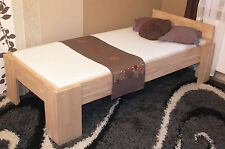 Vollholzbett Echtholz Massivholzbett 120x200 Einzelbett Seniorenbett Fuß I 27mm