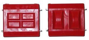 Prothane 7-506 Polyurethane GM Motor Engine Mount Bushings (Pair - Red)