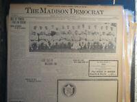 Baseball Team Photo Newspaper 1913 NY GIANTS SPORTS HISTORY