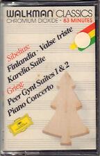 """SIBELIUS - GRIEG """" FINLANDIA """" MUSICASSETTA SIGILLATA DEUTSCHE GRAMMOPHON"""