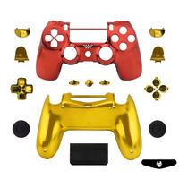 Iron Man Chrome Custom PS4 Slim Pro Controller Shell Case Mod Kit Full Housing