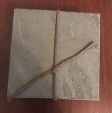 "Set Of 4 Slate Gray Coasters Brand New 4"" X 4"""