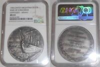 1904 Argentina Silver Medal Inauguration at The Port Of Concordia Maritime Scene