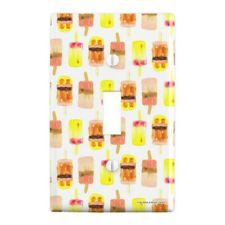 Pretty Ice Pops Plastic Wall Decor Toggle Light Switch Plate Cover