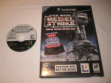Star Wars Rogue Squadron III: Rebel Strike Limited Edition Preview Gamecube Mint