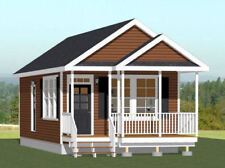 16x32 Tiny House -- 511 sq ft -- PDF Floor Plan -- Model 1T