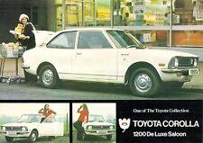 Toyota Corolla 1200 De Luxe Saloon 1973 UK Market Leaflet Sales Brochure