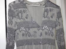 Pretty Vintage Women's Floor Length Shimmery Gray Jumpsuit
