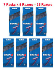 35x Gillette Disposable Razors Blue G2 Blades Shaver Fixed Good News 5pk x 7