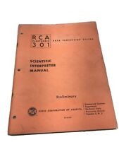 RCA 301 Electronic Data Processing System Manual 1961 93-18-000