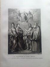 F. ROSASPINA CORONAZIONE MARIA VERGINE SANTI GIOVANNI BENEDETTO CATERNA 1830