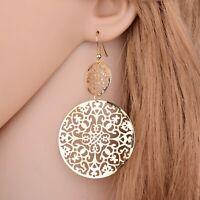 Fashion Punk Jewelry Geometric Dangle Drop Earrings Metal Statement Big Round