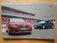AUDI S4 Saloon & Avant V8 4.2 Litre 2005 prestige brochure - UK market