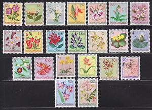 Belgian Congo Sc 263-284 MNH. 1952-53 Flowers cplt VF