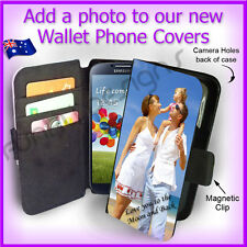 For Samsung S4 i9500, Personalised PHOTO Wallet Flip case PICTURE cover  Image