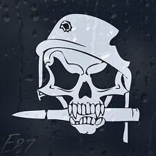 Armée Crâne Balle dans casque militaire avec trou shot voiture decal vinyl Autocollant