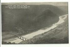 Old Postcard Looking West From Hyner PA Zimmerman Renovo Harger's Variety Store