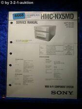 Sony Service Manual HMC NX5MD Component System (#6668)