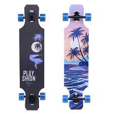 "Playshion Freeride Freestyle Drop Through Longboard Skateboard Complete 39"" Tree"