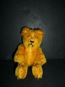 "CUTE VINTAGE JOINTED MOHAIR MINIATURE TEDDY BEAR 5"" SCHUCO ?"