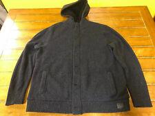 Hollister Fleece Lined Hooded Cardigan Sweater Coat Jacket Men's XXL [Excellent]