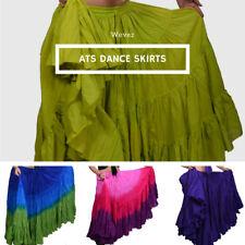 Falda de algodón de danza tribal gitana de 25 yardas Elige tu color