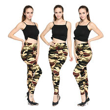 Camouflage Elasticity Trousers Skinny Pencil Pants Large Size Leggings Jeggings