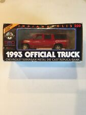 Indianapolis 500 1993 Official Truck Chevrolet Suburban Metal Die Cast Rare Red