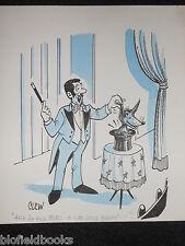 """Clifford C Lewis """"angolo di scotta"""" Originale Penna E Inchiostro CARTONE ANIMATO-Mago Cappello Di Volpe nel #408"""
