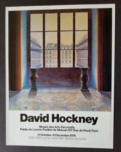 """David Hockney """"Two Vases in the Louvre """" Poster Print offset Litho 1987"""