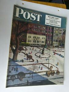 1950 Saturday Evening Post February 11 Why New York, Firemen's Rescue Squad