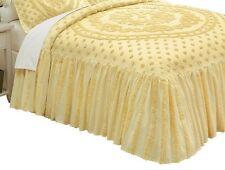 Isabelle Medallion Chenille Cotton Bedspread Yellow -Full