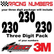 Racing Numbers Vinyl Decals Stickers boat car BMX bike off road sprint quad ANAK