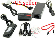 """USB 3.0/2.0 to 2.5""""/3.5"""" SATA IDE HDD DVD-RW DVD-R0M Adapter Converter Cable OTB"""