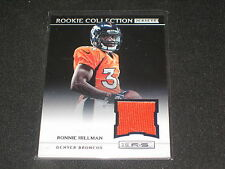 RONNIE HILLMAN BRONCOS 2011 ROOKIE STAR PACK PULLED PANINI CERTIFIED JERSEY CARD