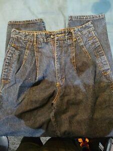 Vtg 80s 90s Jordache Mens Jeans Blue No Exit Pocket Patch 33/34