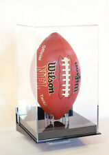 Football display case Vertical wall mount full size NFL NCAA 85% UV filtering