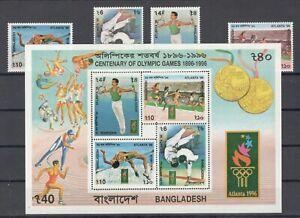 Bangladesh 576-79 Bl.22 ** Olympia 1996 kpl.