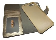 "NEW RESEE LEATHER iPHONE 8/7/6s/6 PLUS CASE WALLET 5.5"" SCREEN GOLD"