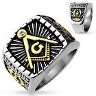 Masonic Stainless Steel 316 L, Freemason's Lodge Ring 9-14